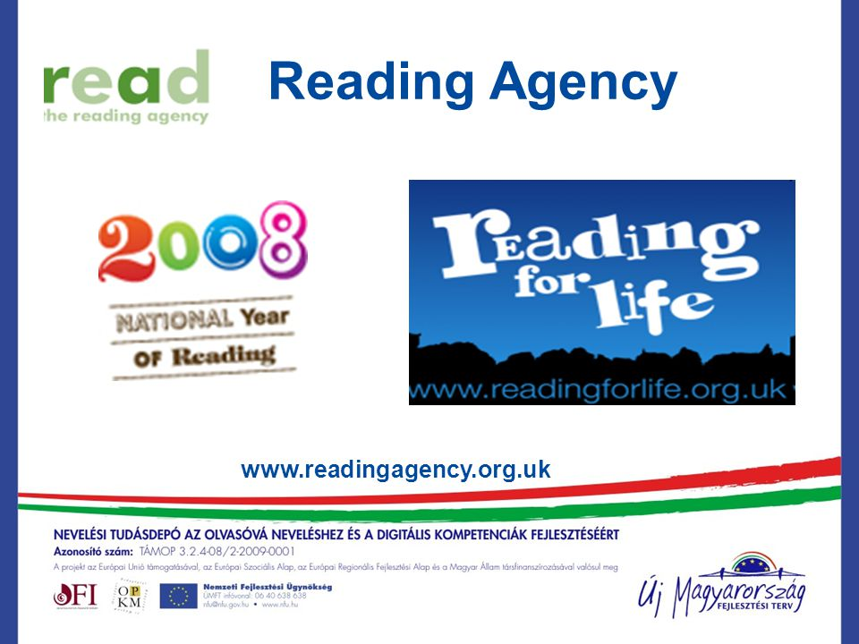 Reading Agency www.readingagency.org.uk