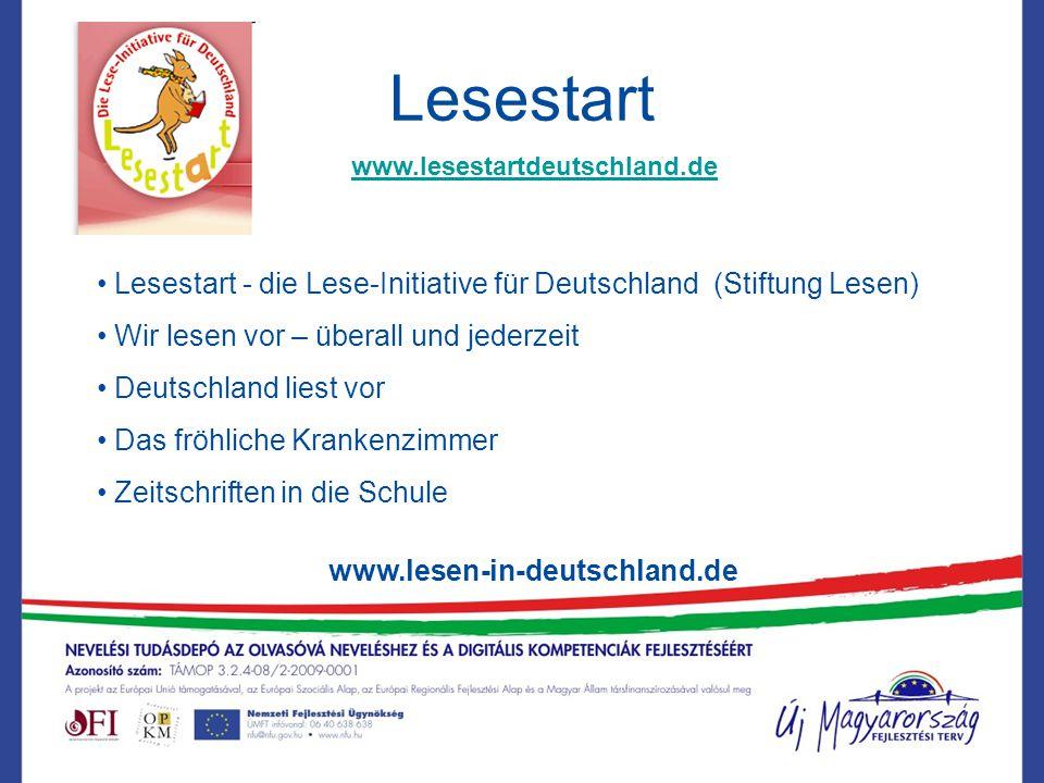 Lesestart www.lesestartdeutschland.de. Lesestart - die Lese-Initiative für Deutschland (Stiftung Lesen)