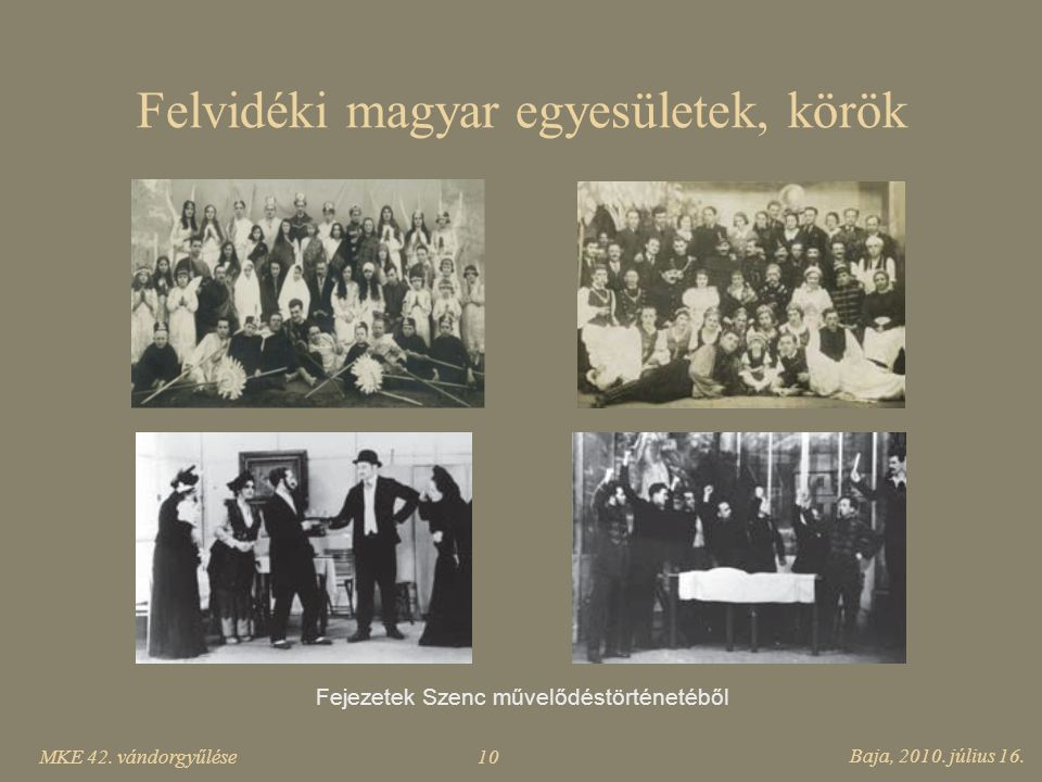 Felvidéki magyar egyesületek, körök