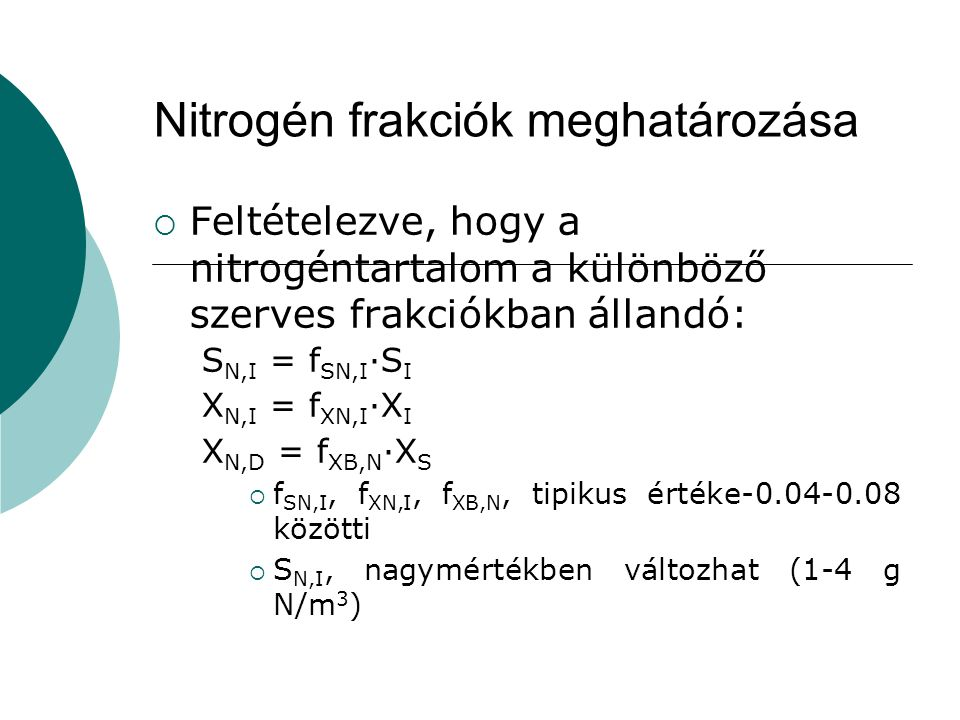Nitrogén frakciók meghatározása