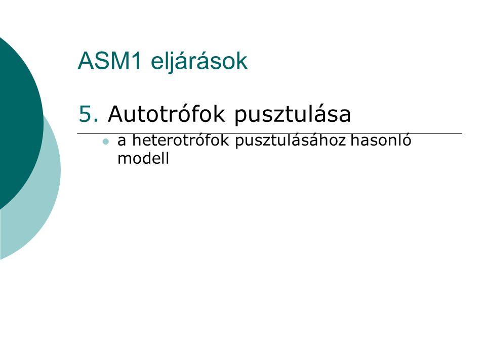 ASM1 eljárások 5. Autotrófok pusztulása