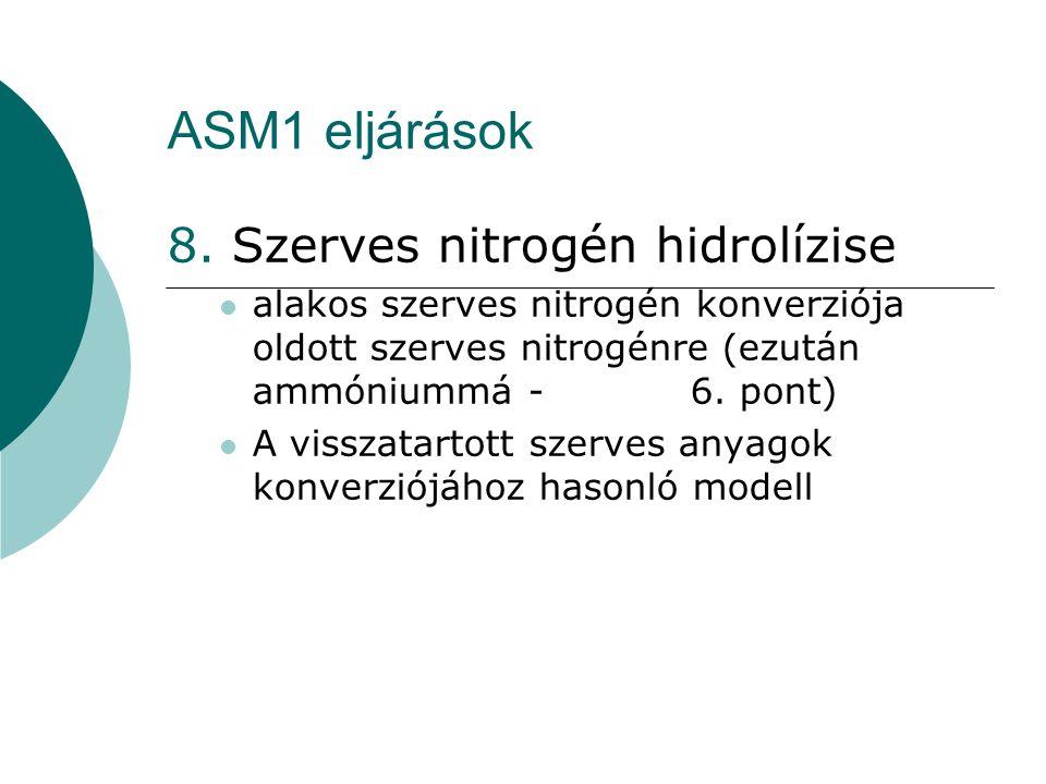 ASM1 eljárások 8. Szerves nitrogén hidrolízise