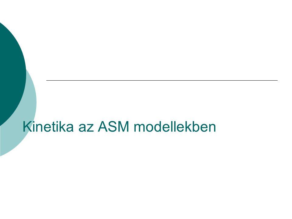 Kinetika az ASM modellekben