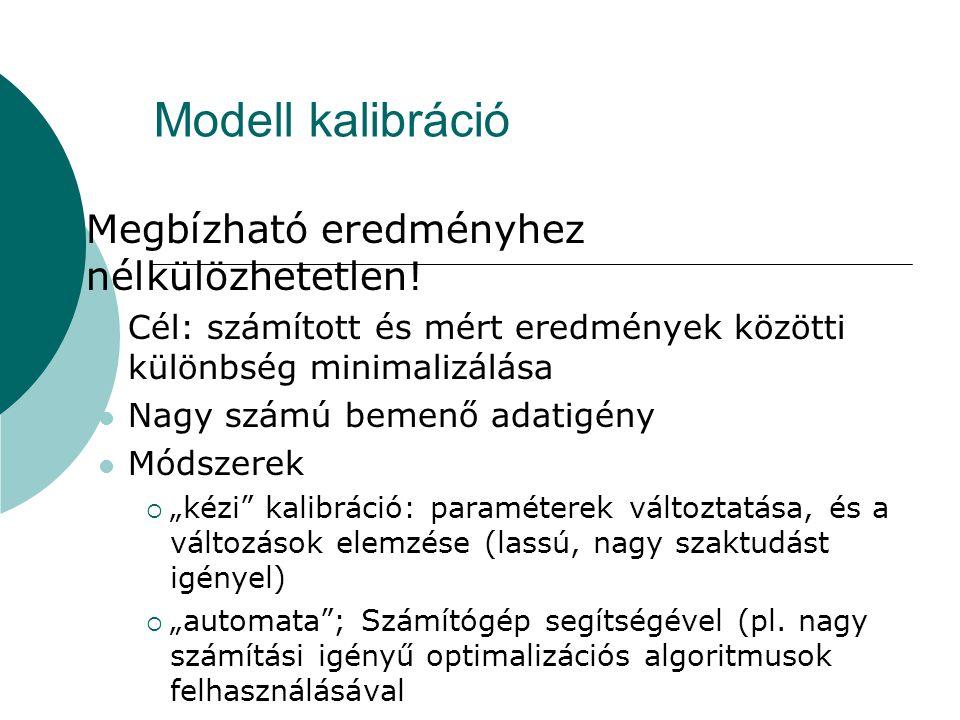 Modell kalibráció Megbízható eredményhez nélkülözhetetlen!