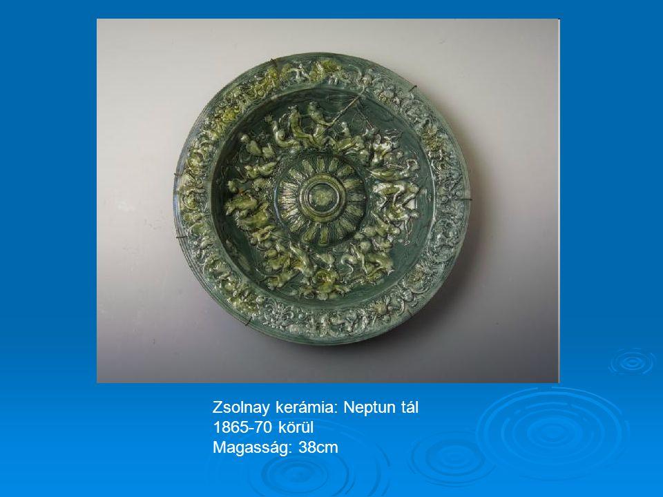 Zsolnay kerámia: Neptun tál