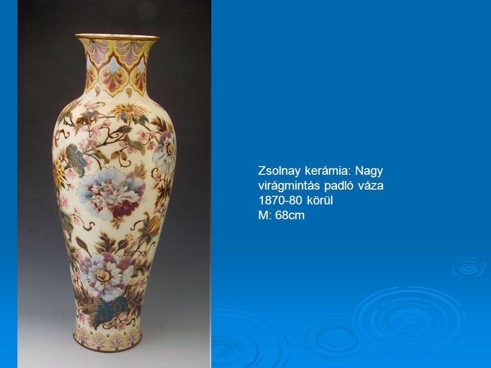 Zsolnay kerámia: Nagy virágmintás padló váza