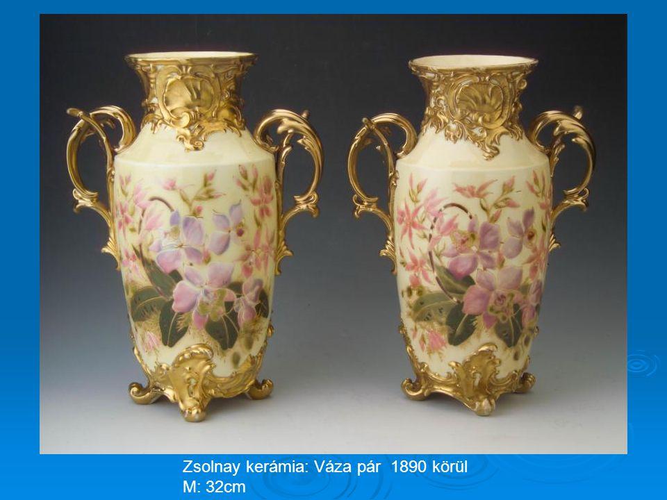 Zsolnay kerámia: Váza pár 1890 körül