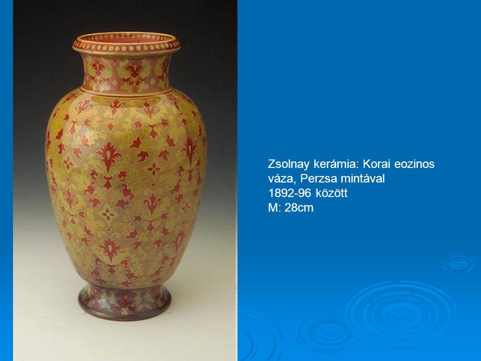Zsolnay kerámia: Korai eozinos váza, Perzsa mintával