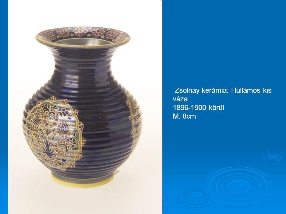 Zsolnay kerámia: Hullámos kis váza