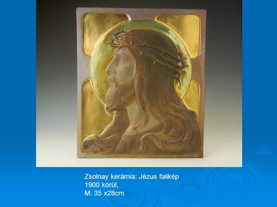 Zsolnay kerámia: Jézus falikép