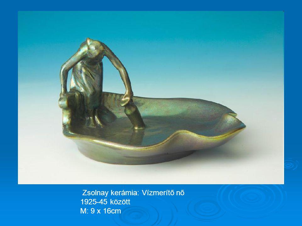 Zsolnay kerámia: Vízmerítő nő