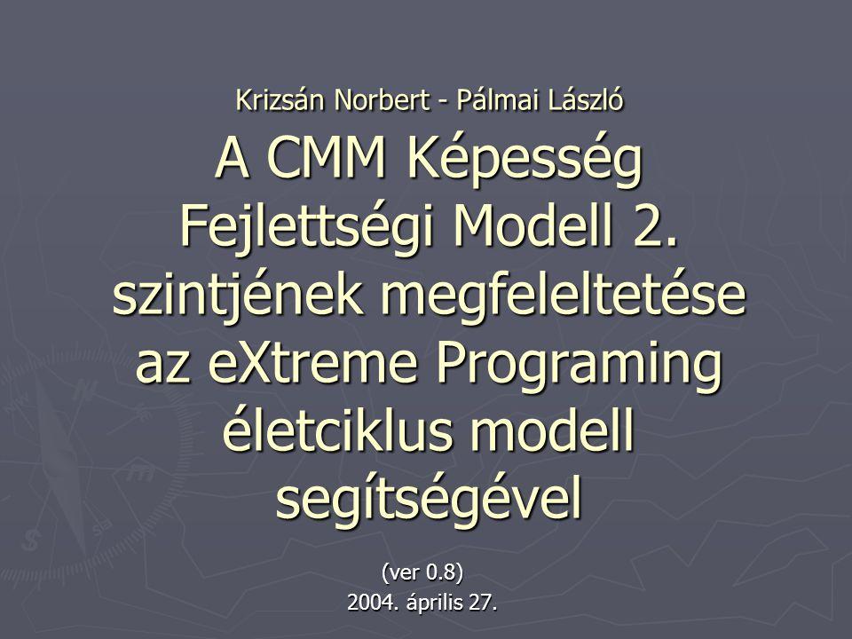 Krizsán Norbert - Pálmai László A CMM Képesség Fejlettségi Modell 2