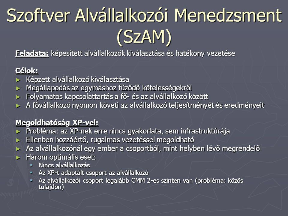 Szoftver Alvállalkozói Menedzsment (SzAM)