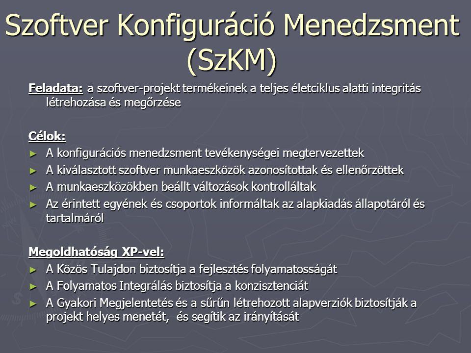 Szoftver Konfiguráció Menedzsment (SzKM)
