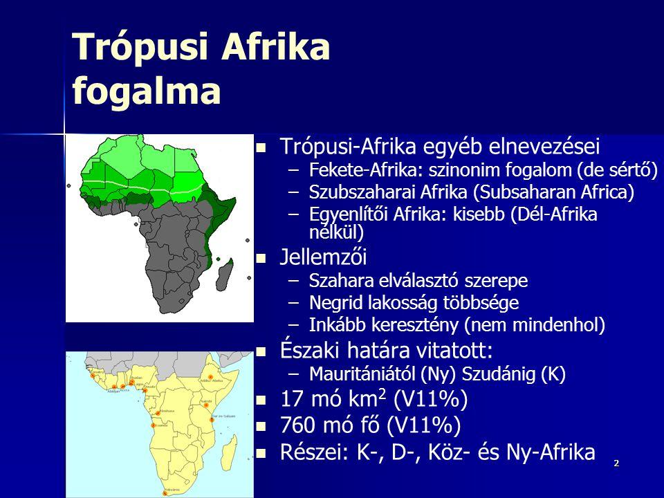 Trópusi Afrika fogalma