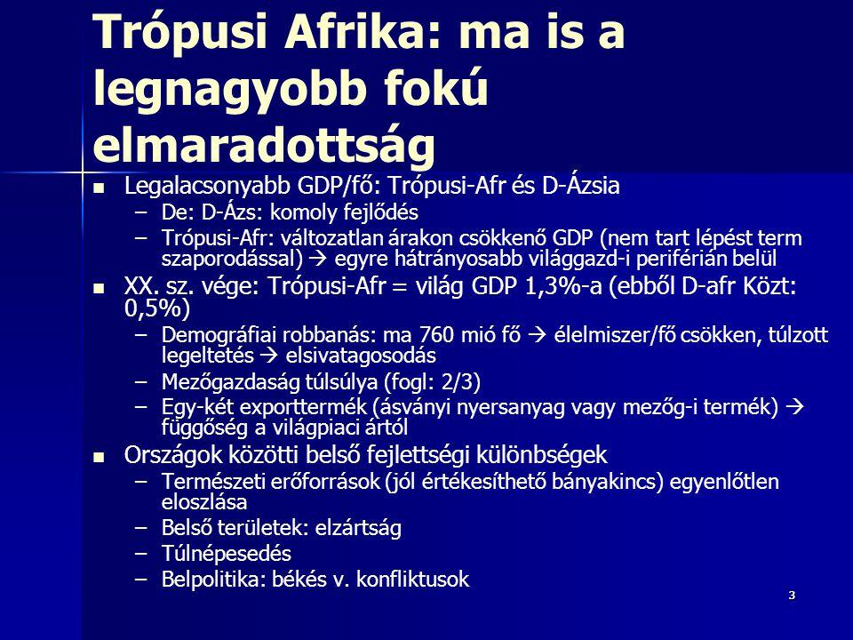 Trópusi Afrika: ma is a legnagyobb fokú elmaradottság