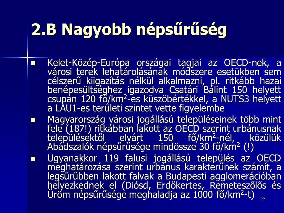 2.B Nagyobb népsűrűség