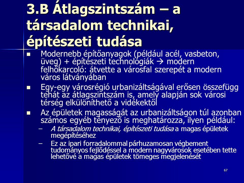 3.B Átlagszintszám – a társadalom technikai, építészeti tudása
