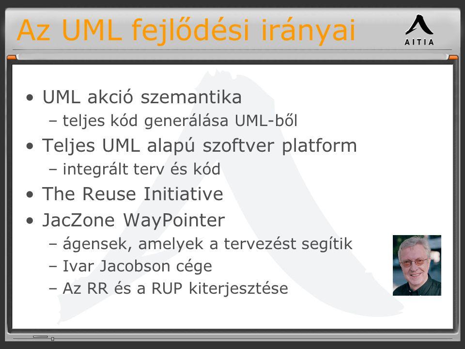 Az UML fejlődési irányai