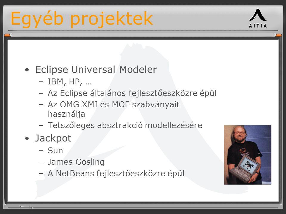 Egyéb projektek Eclipse Universal Modeler Jackpot IBM, HP, …