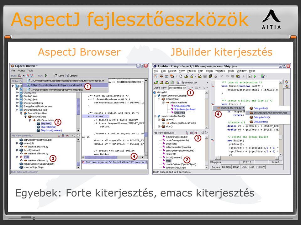 AspectJ fejlesztőeszközök