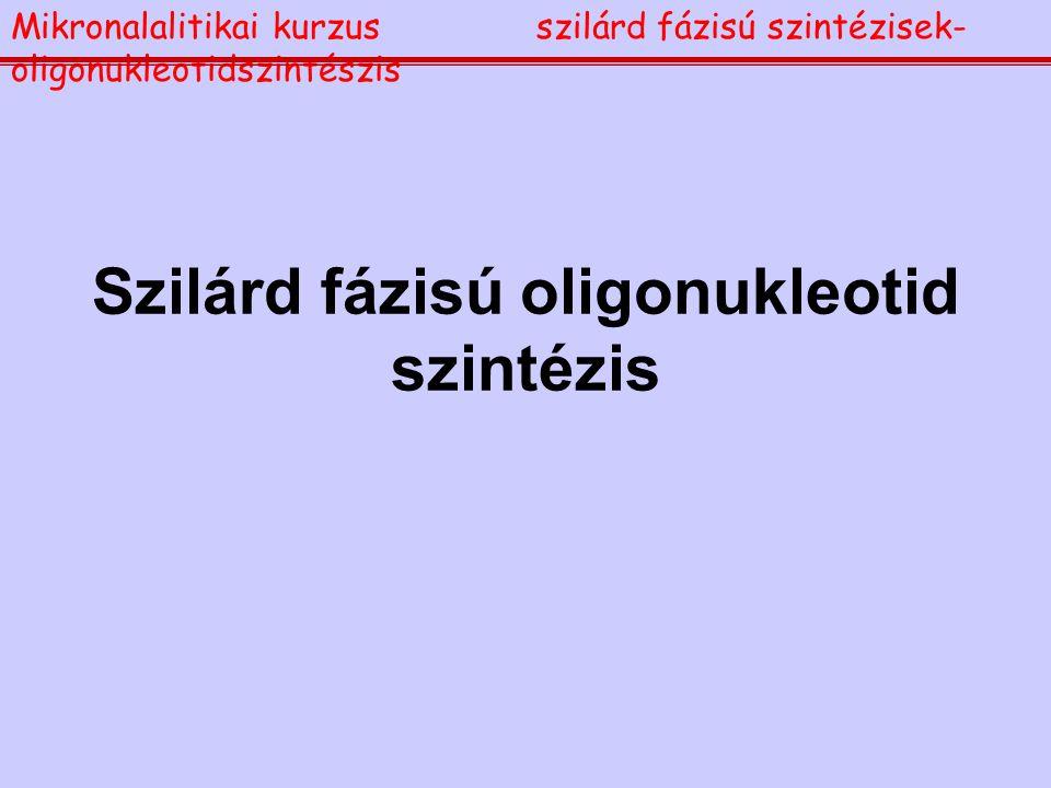 Szilárd fázisú oligonukleotid szintézis