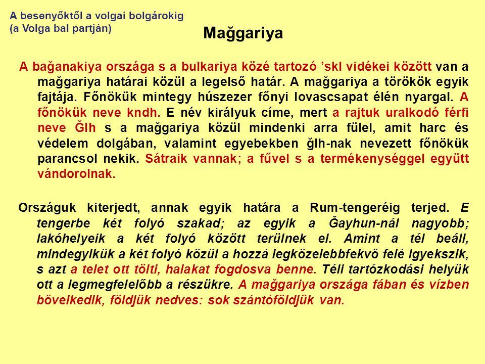 A besenyőktől a volgai bolgárokig