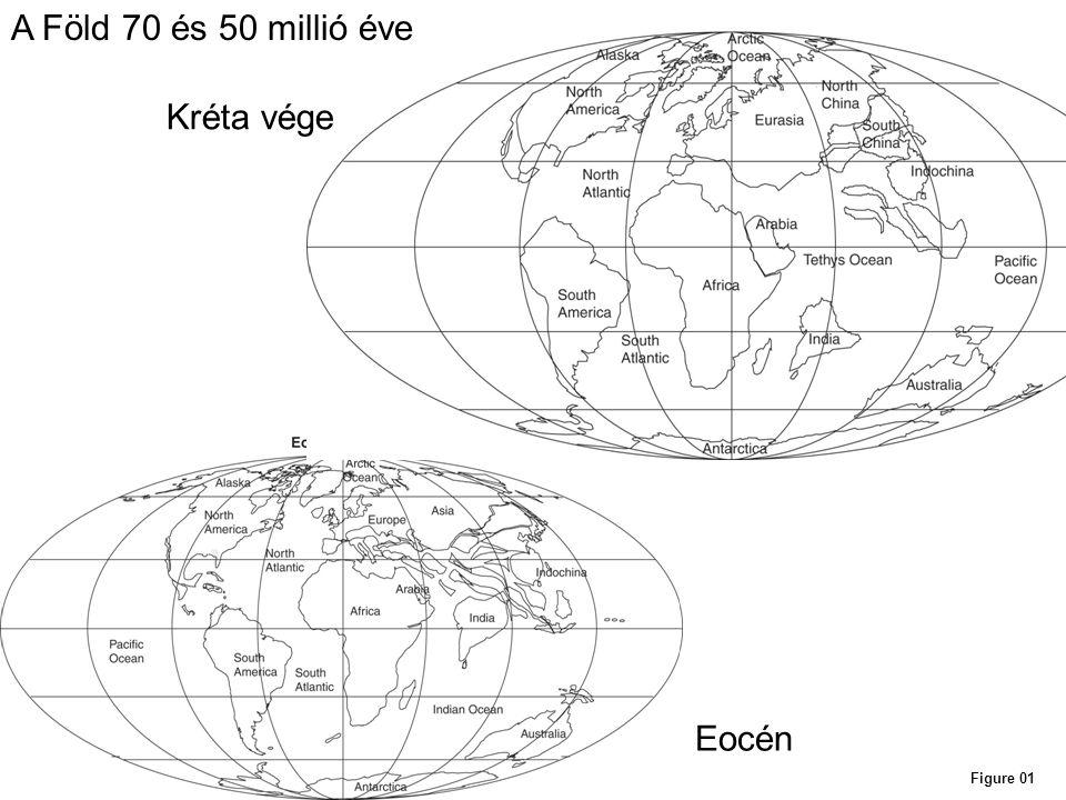 A Föld 70 és 50 millió éve Kréta vége Eocén Figure 01