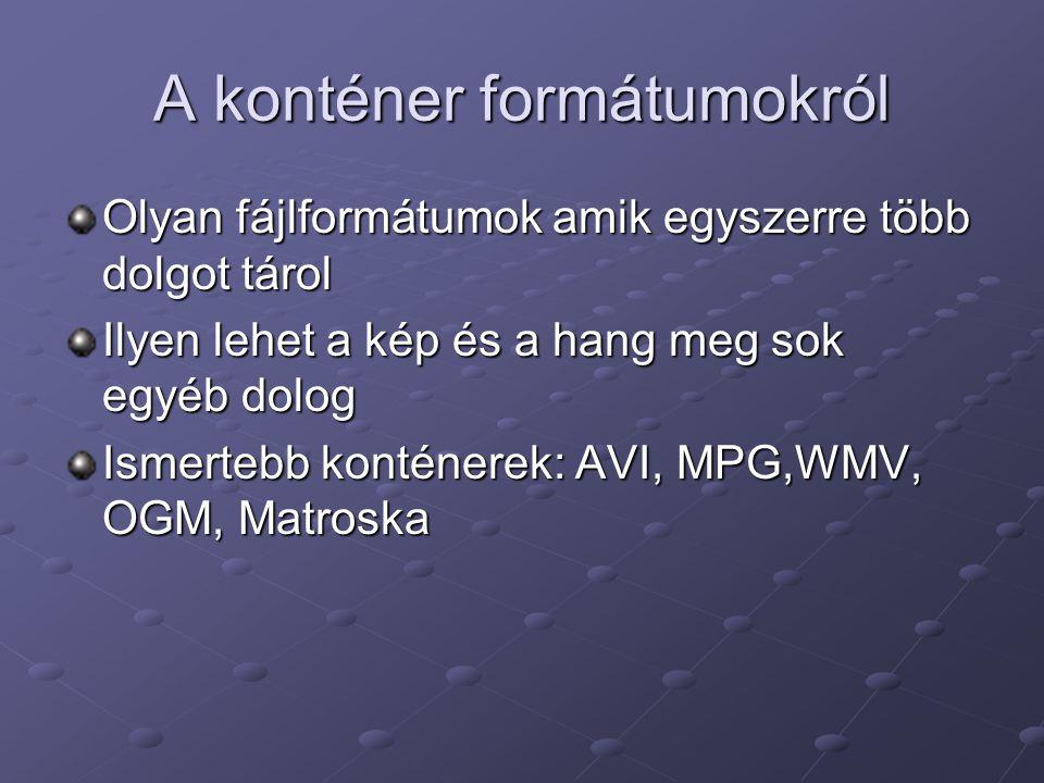 A konténer formátumokról
