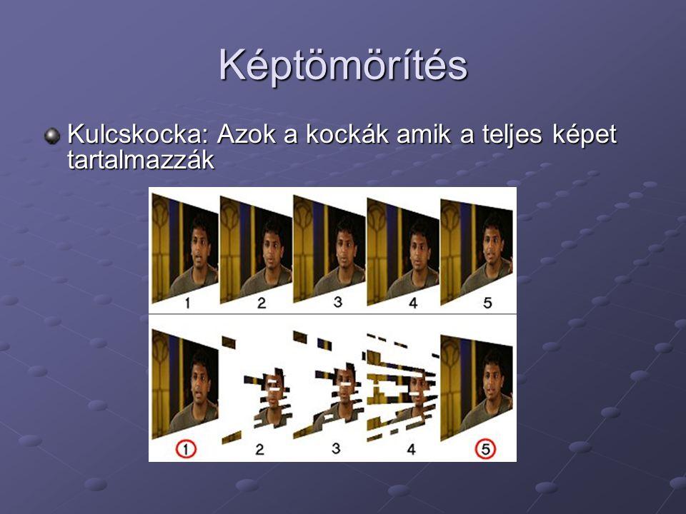 Képtömörítés Kulcskocka: Azok a kockák amik a teljes képet tartalmazzák