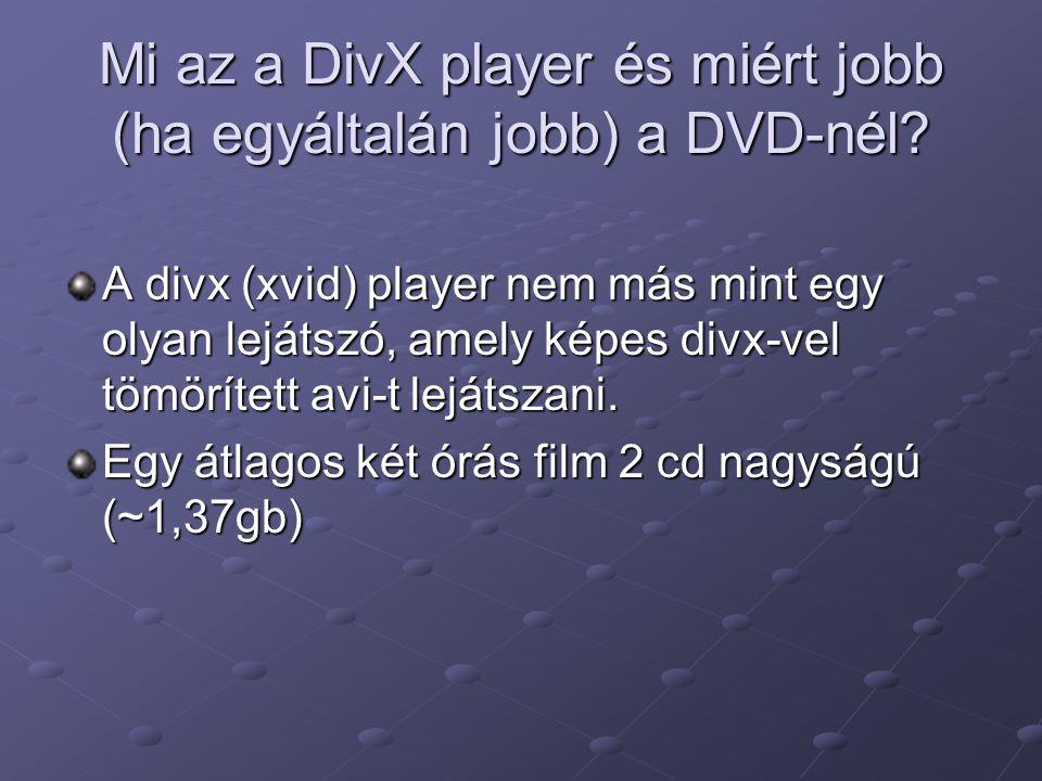 Mi az a DivX player és miért jobb (ha egyáltalán jobb) a DVD-nél