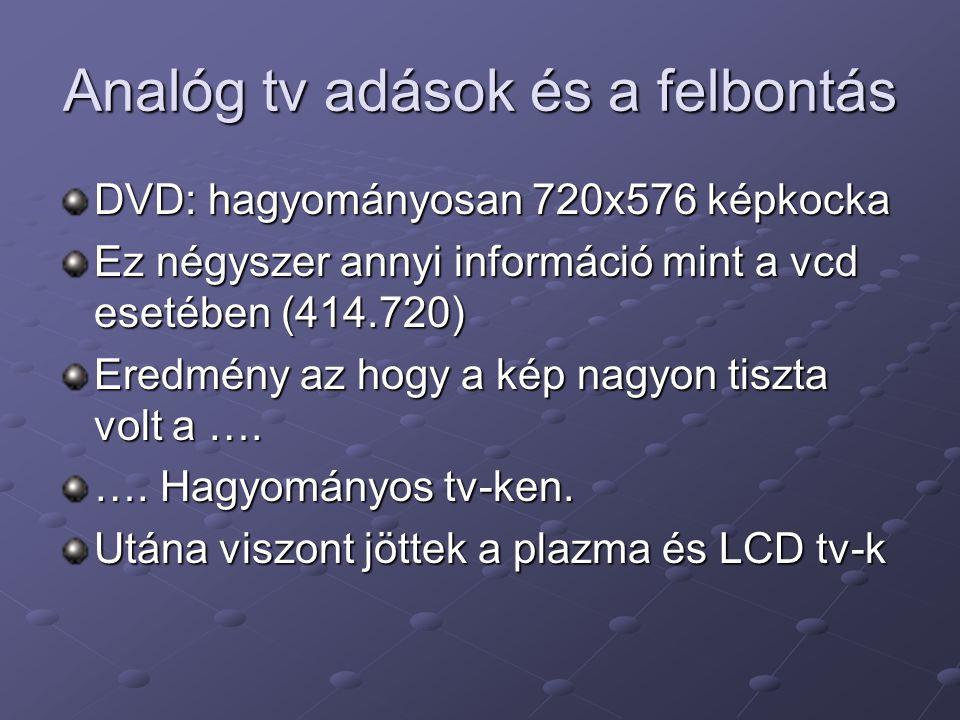 Analóg tv adások és a felbontás