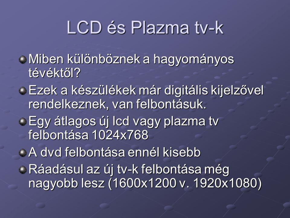 LCD és Plazma tv-k Miben különböznek a hagyományos tévéktől