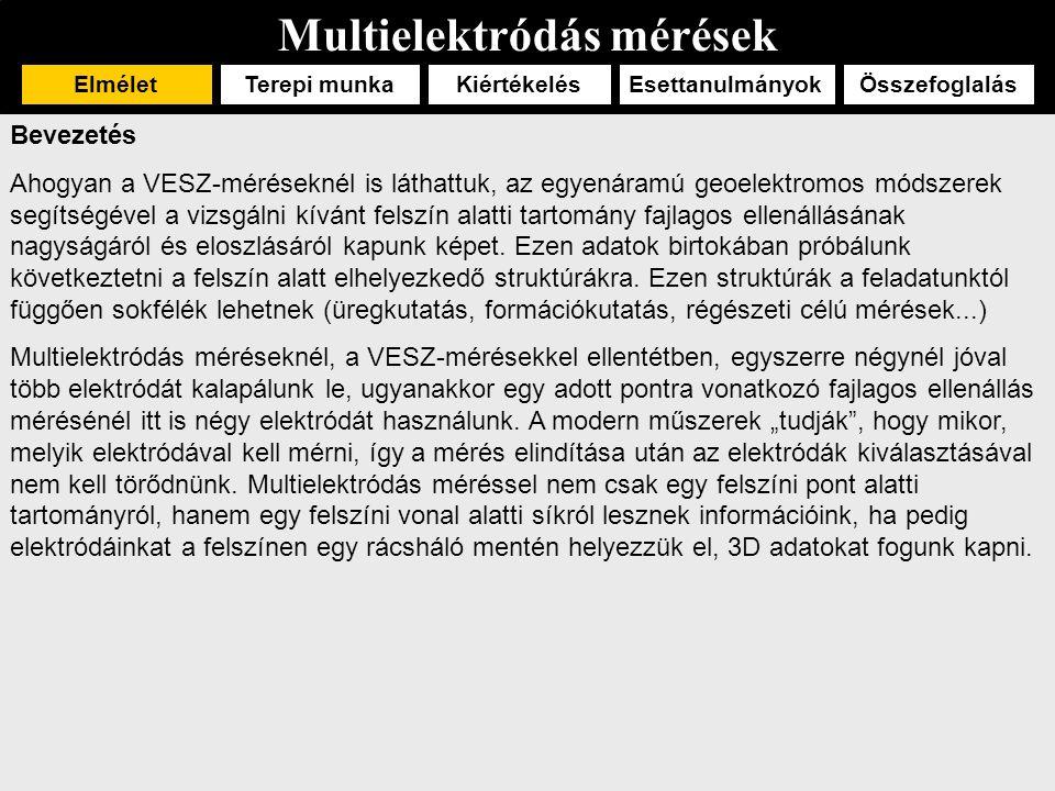 Multielektródás mérések