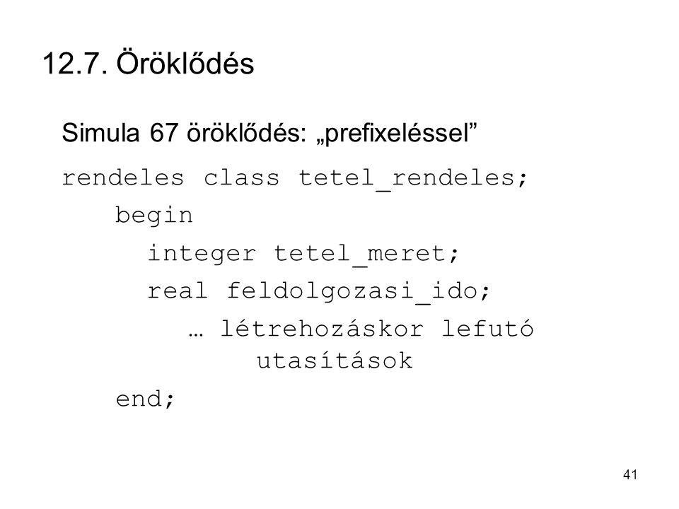 """Simula 67 öröklődés: """"prefixeléssel"""
