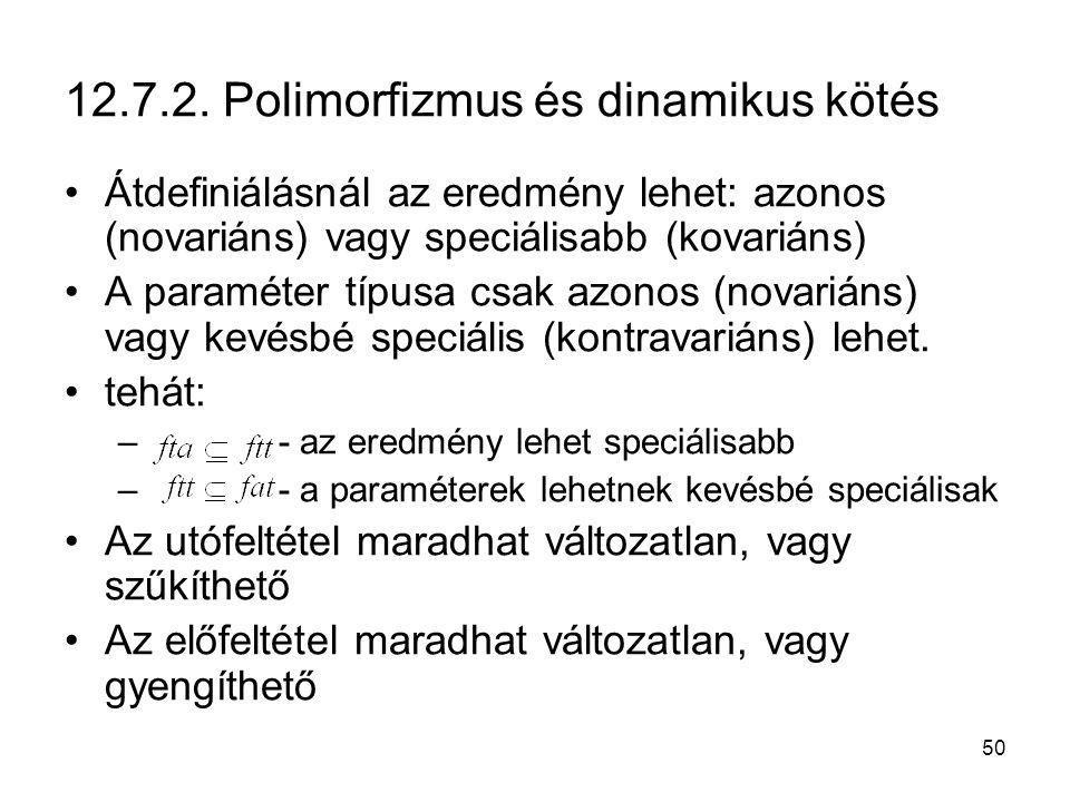12.7.2. Polimorfizmus és dinamikus kötés