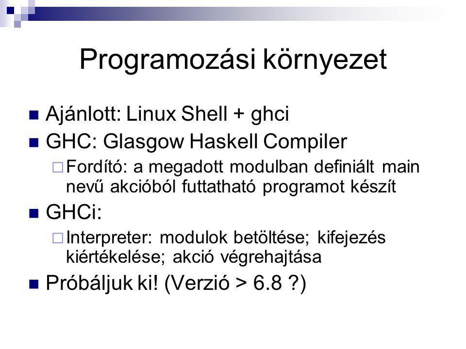 Programozási környezet