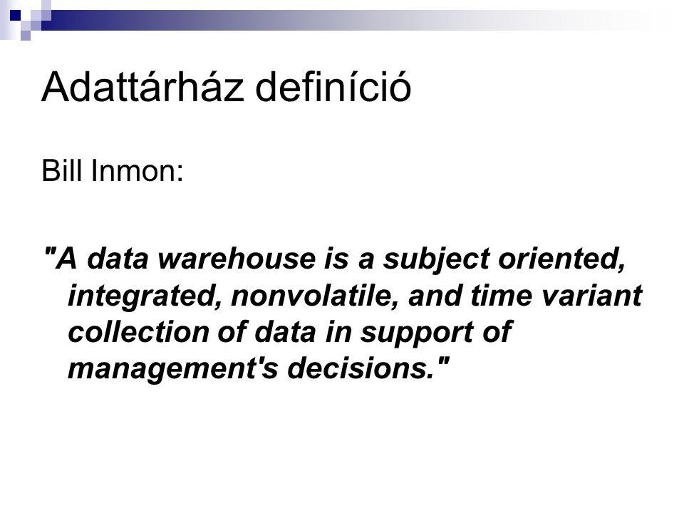 Adattárház definíció Bill Inmon: