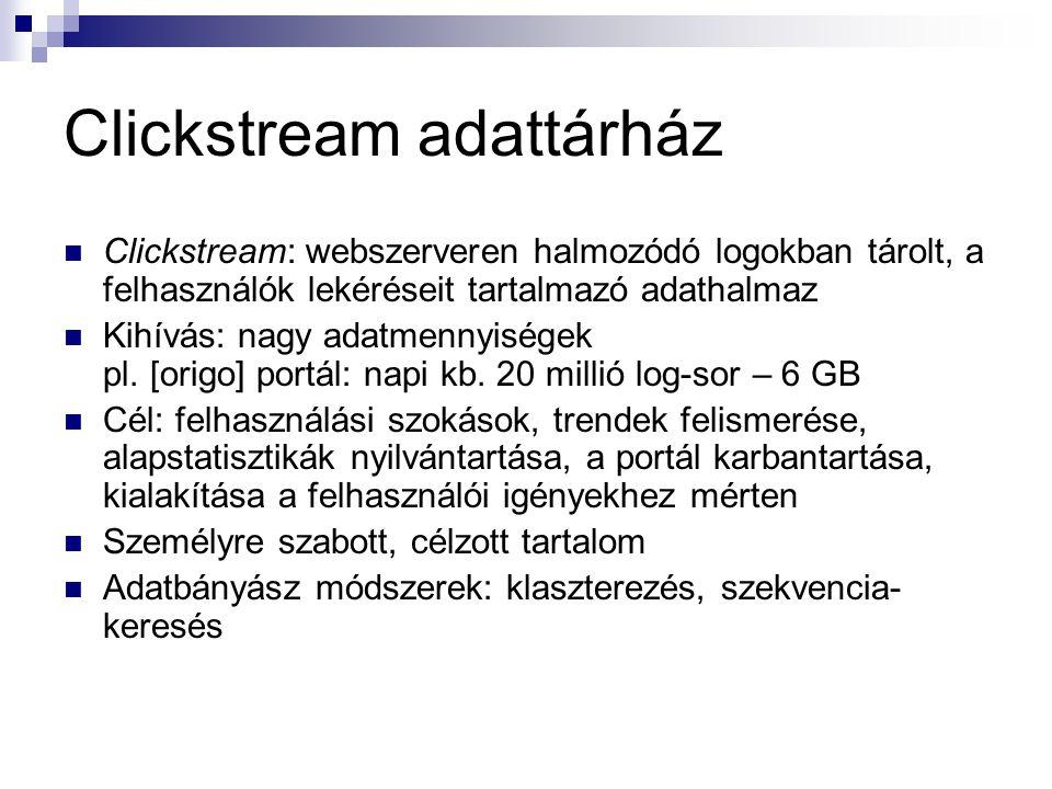Clickstream adattárház