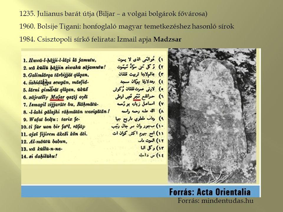 1235. Julianus barát útja (Biljar – a volgai bolgárok fővárosa)