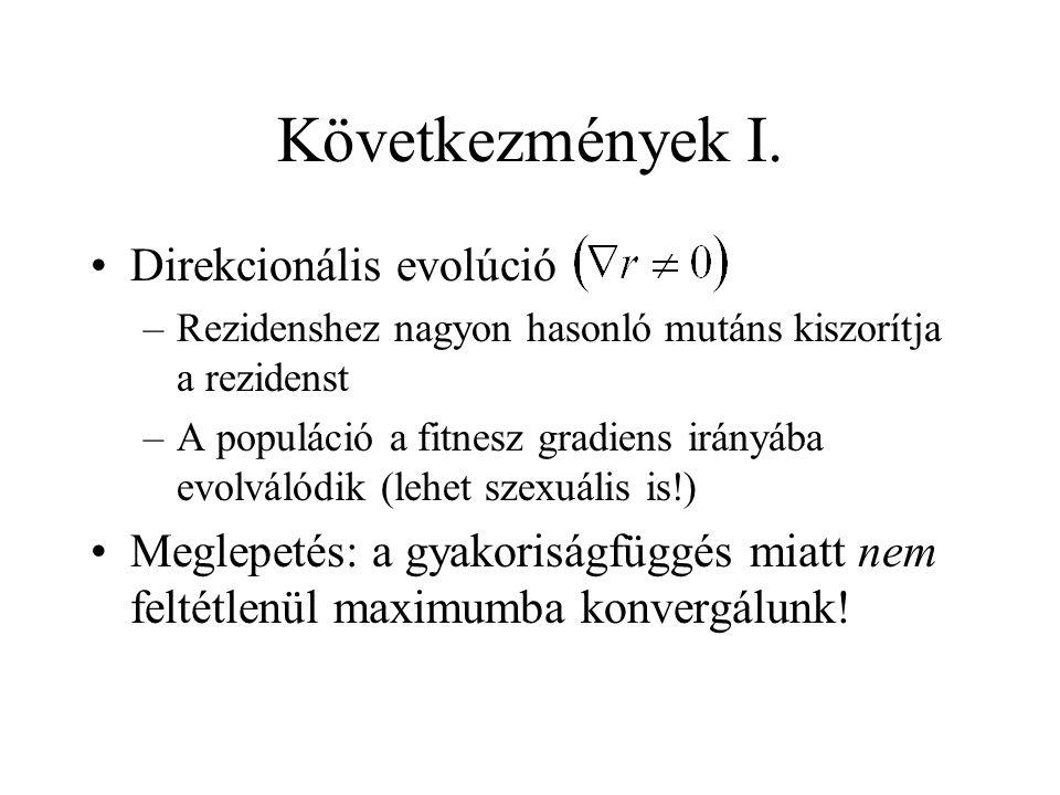 Következmények I. Direkcionális evolúció