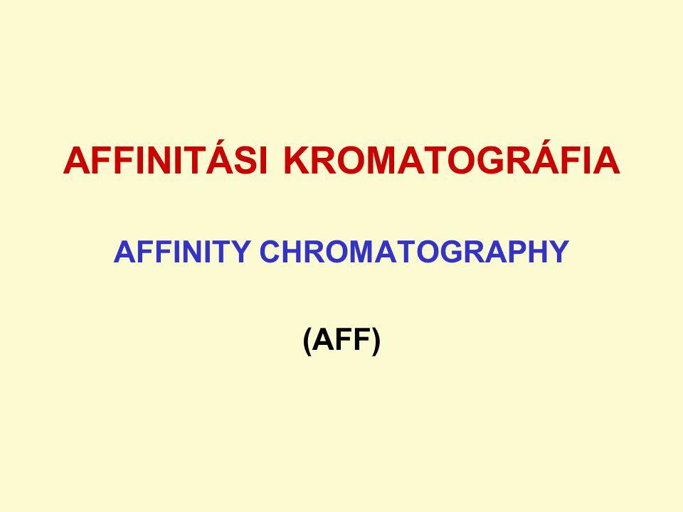 AFFINITÁSI KROMATOGRÁFIA AFFINITY CHROMATOGRAPHY