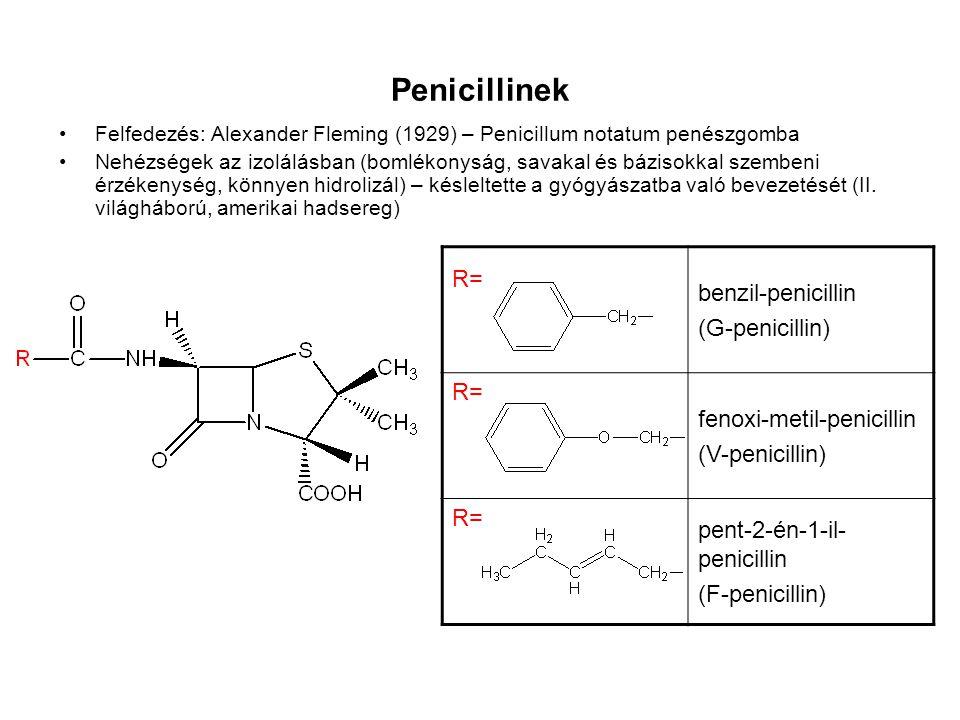 Penicillinek benzil-penicillin (G-penicillin) R=