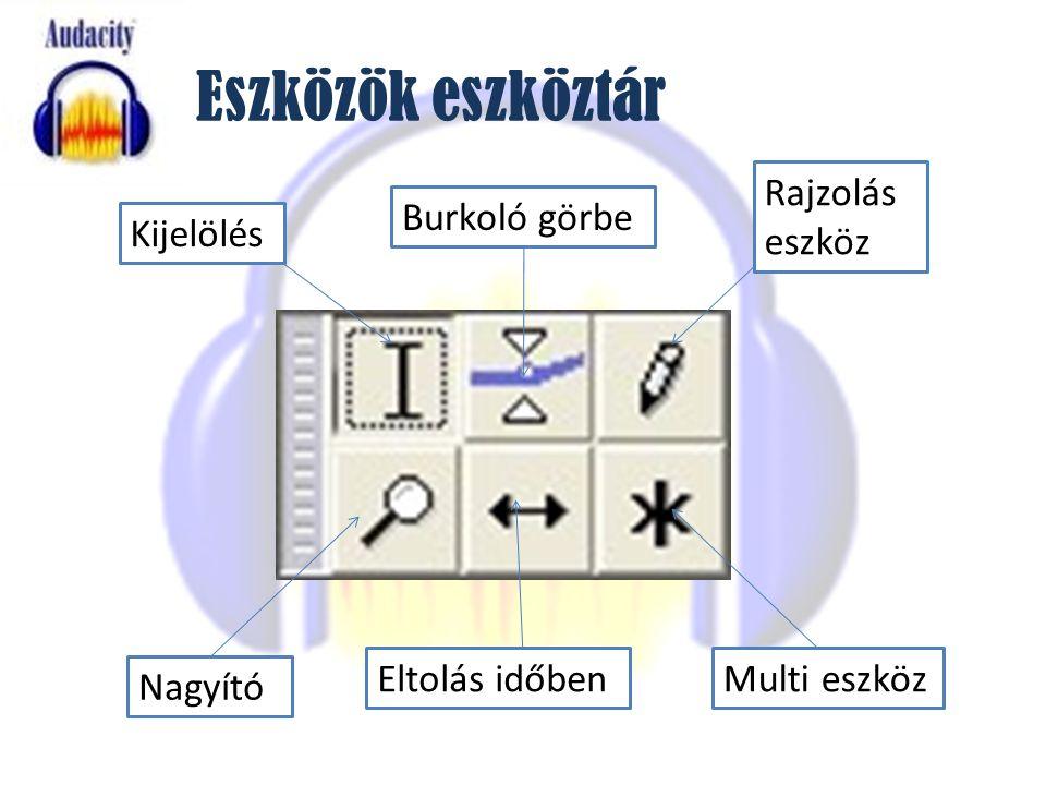 Eszközök eszköztár Rajzolás eszköz Burkoló görbe Kijelölés