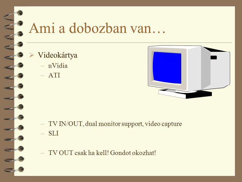 Ami a dobozban van… Videokártya nVidia ATI