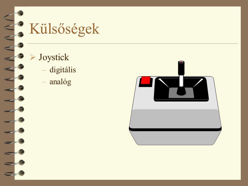 Külsőségek Joystick digitális analóg