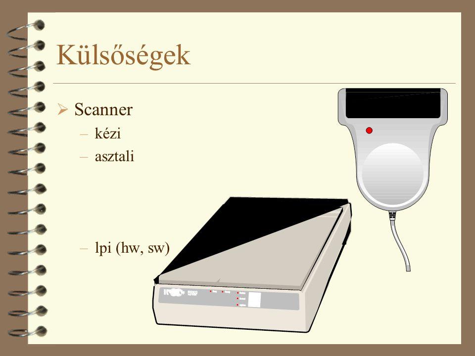 Külsőségek Scanner kézi asztali lpi (hw, sw)
