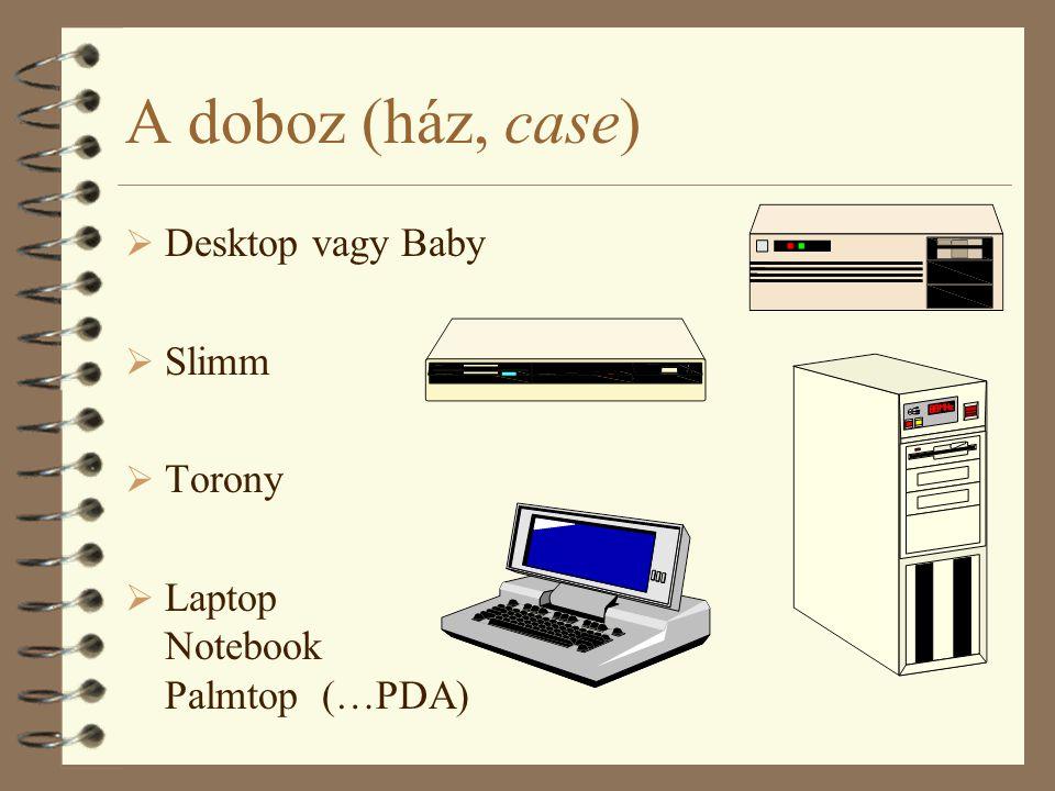 A doboz (ház, case) Desktop vagy Baby Slimm Torony