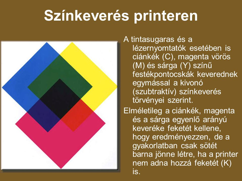 Színkeverés printeren