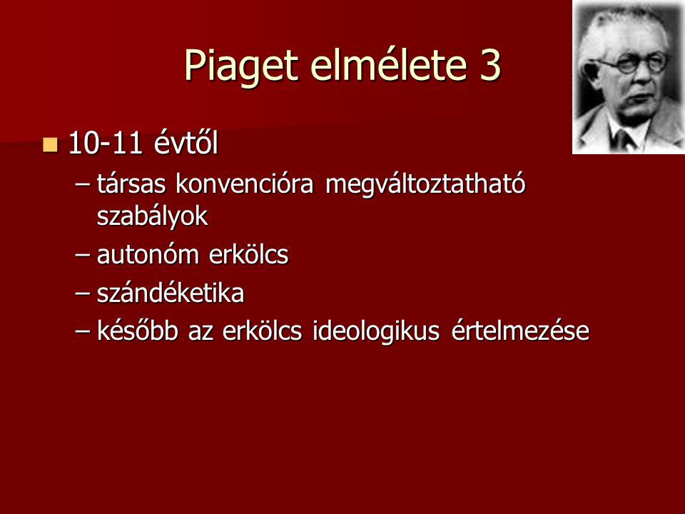 Piaget elmélete 3 10-11 évtől